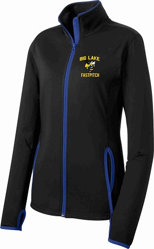 Ladies Contrast Full-Zip Jacket