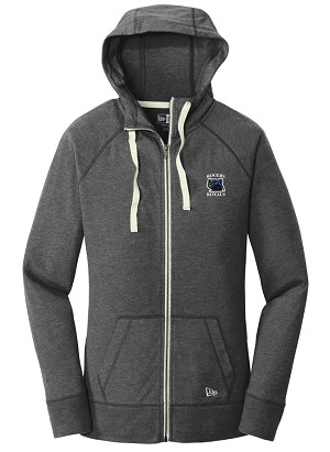 Ladies Sueded Cotton Blend Full-Zip Hoodie