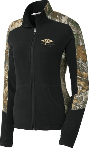 Port Authority Ladies Camouflage Microfleece Jacket