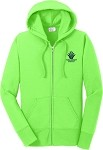 Ladies Full-Zip Hooded Sweatshirt