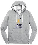 Adult Lace Up Pullover Hooded Sweatshirt